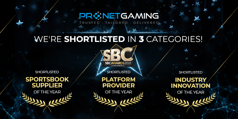 We've been shortlisted for three awards!